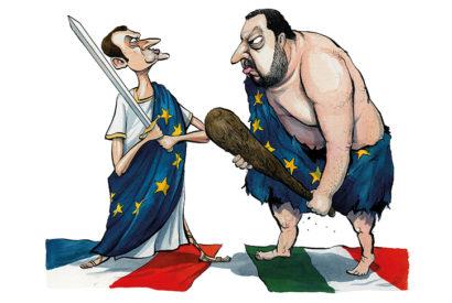 salvini macron spectator cartoon
