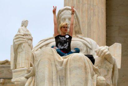 protester justice democratic death wish