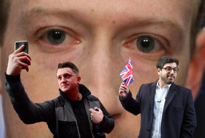 tommy robinson raheem kassam banned facebook