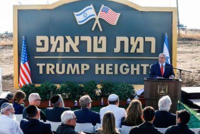 Benjamin Netanyahu unveils Trump Heights