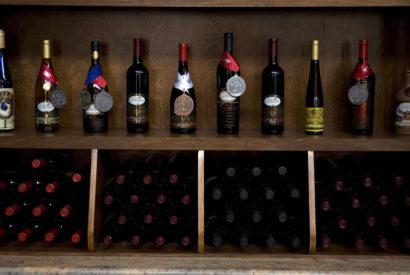 Award winning bottles of wine