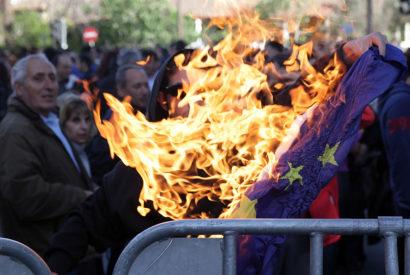 germany flag burning