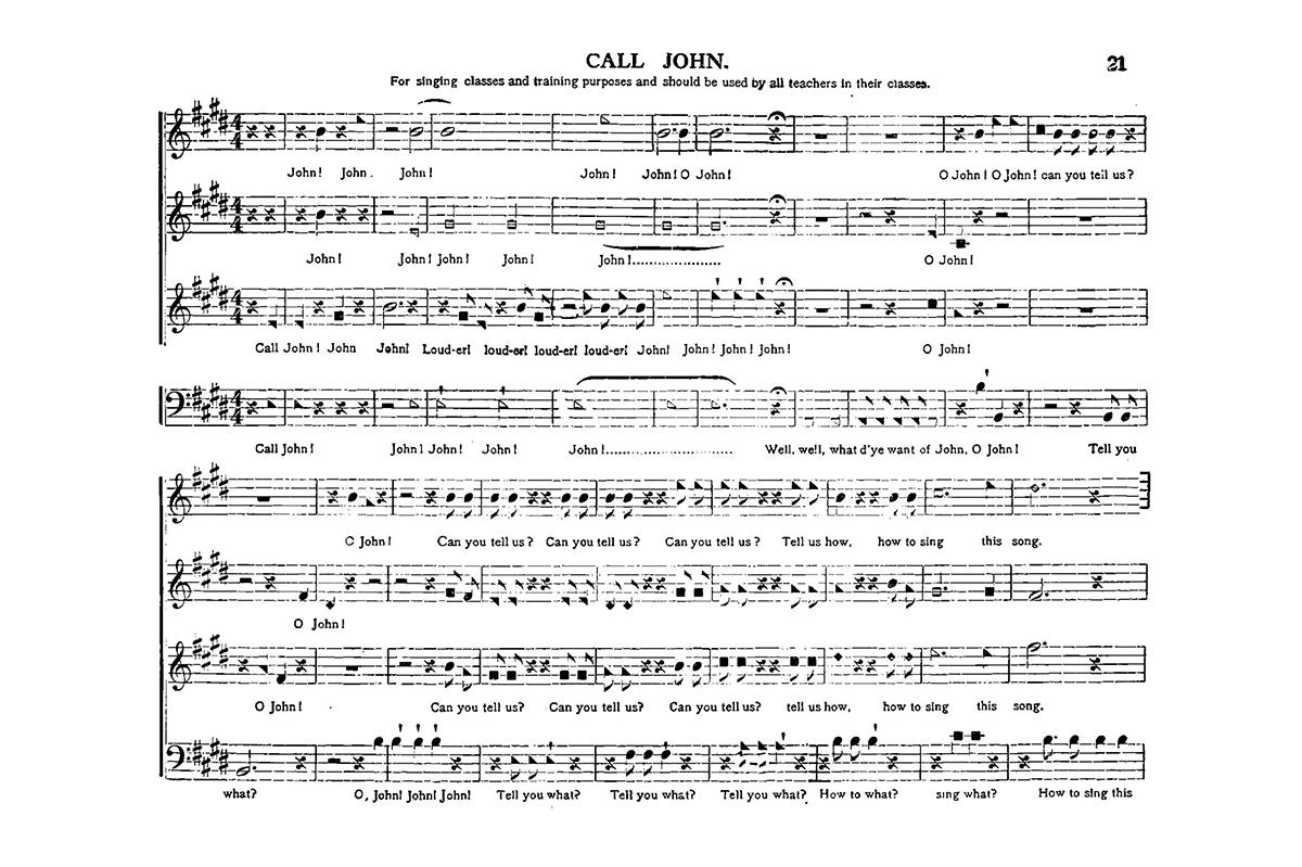 shape-note singing