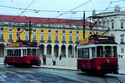 Lisbon distinctive trams